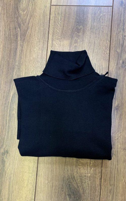 Markup High Neck Black Sweater