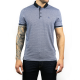 Wren Navy Jacquard Polo Shirt