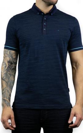 Rad Navy Jacquard Polo Shirt