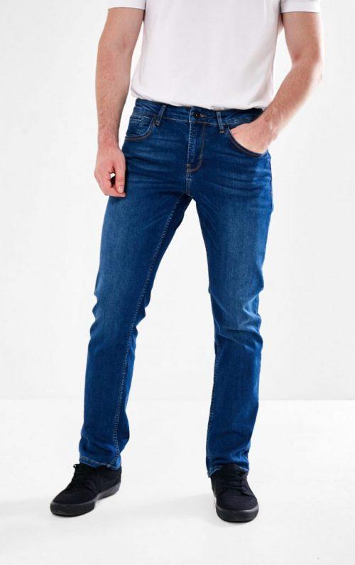 Mineral Archer Regular Fit Stretch Jeans Mid Blue