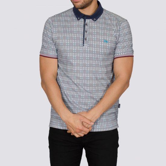 Striper Navy Patterned Polo Shirt
