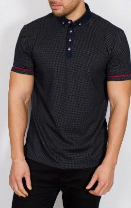 Sweet Jacquard Polo Shirt Navy