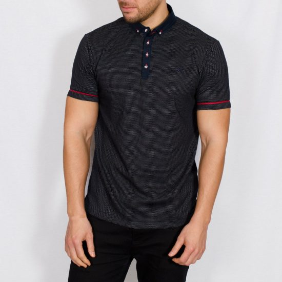 Sweet Jacquard Polo Shirt Navy