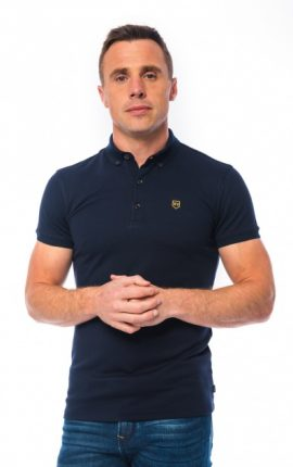XV Kings Batley Midnight Blue Polo Shirt