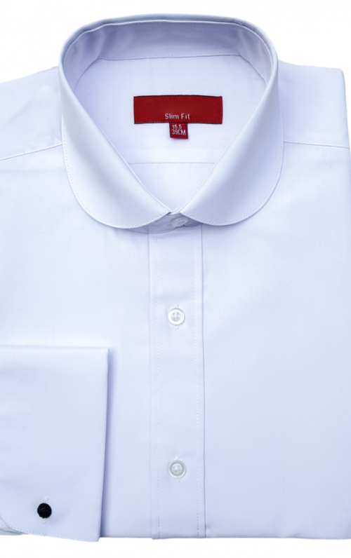 Colin Ross Penny Collar White Shirt