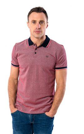 XV Kings Crosshaven Ruby Sheen Polo Shirt
