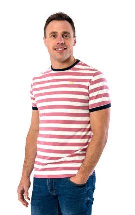 XV Kings Tullamore Mauve Stripe T-Shirt