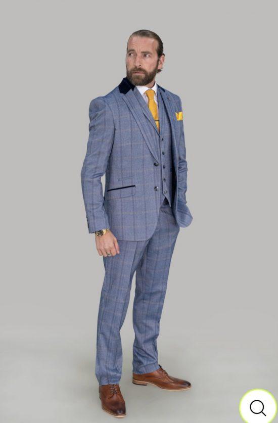 Cavani Connall Suit Blue