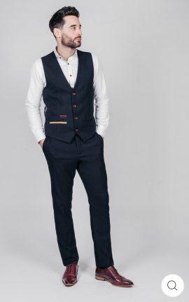 Marc Darcy JD4 Navy Waistcoat