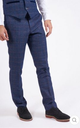 Marc Darcy Harry Indigo Check Trousers