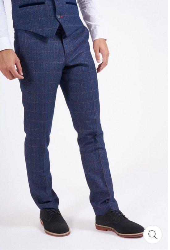 Marc Darcy Harry Indigo Check Trousers