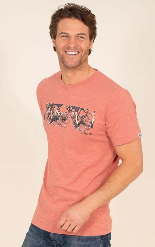 Brakeburn Peloton Pink Graphic T-Shirt