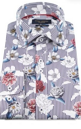 Guide London Striped Floral Shirt