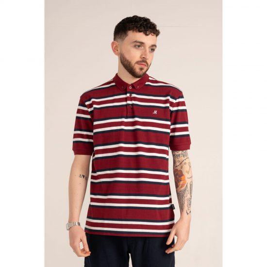 Mineral Batura Burgundy Polo Shirt
