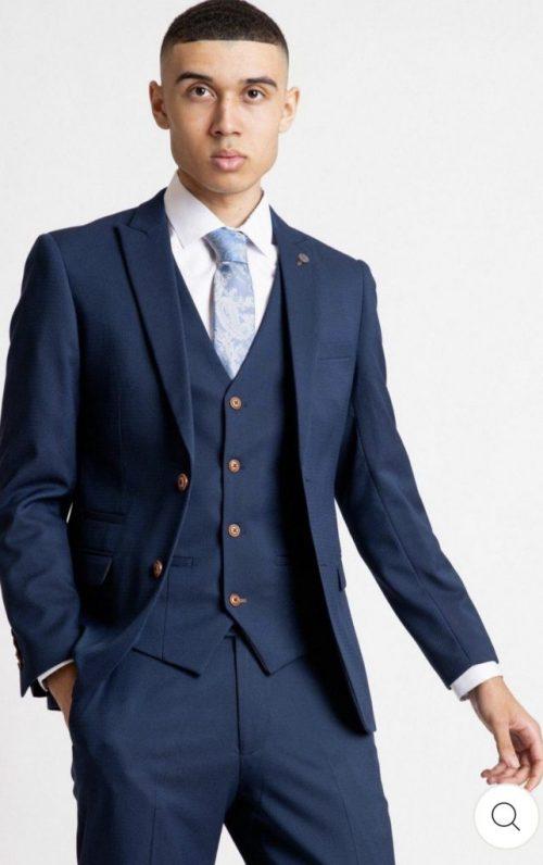 Marc Darcy 3 Piece Suit Max Royal Blue