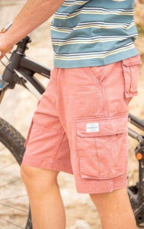 Brakeburn Washed Pink Cargo Shorts