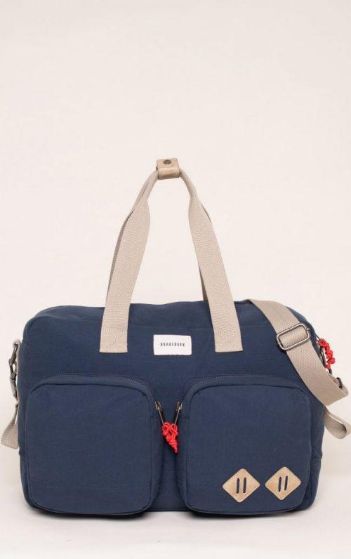 Brakeburn Navy Overnight Bag