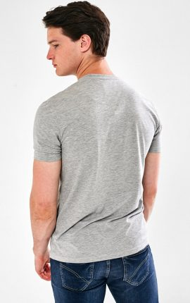 Greymarl cotton mix, 180 grms T-Shirt from Mineral Chest brand tonal embroidery. Available in 6 colour options, have a look below.