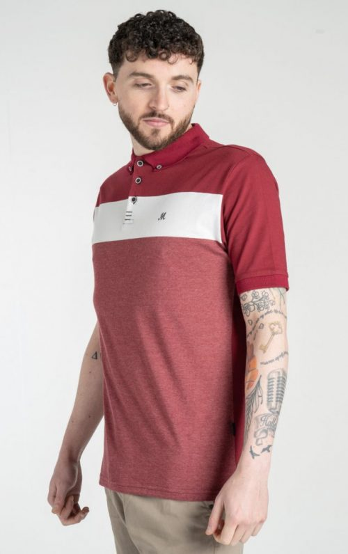 Mineral Biran Burgundy Polo Shirt