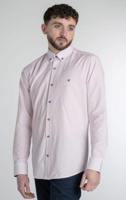 Mineral Blas Pink Dotted Print Shirt