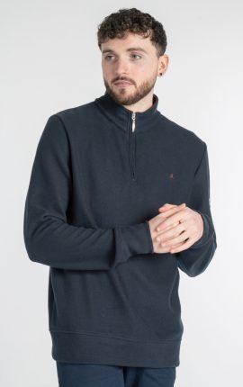 Mineral Kentucky Half Zip Sweater Navy
