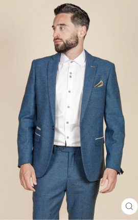 Marc Darcy Dion Blue Check Two Piece Suit