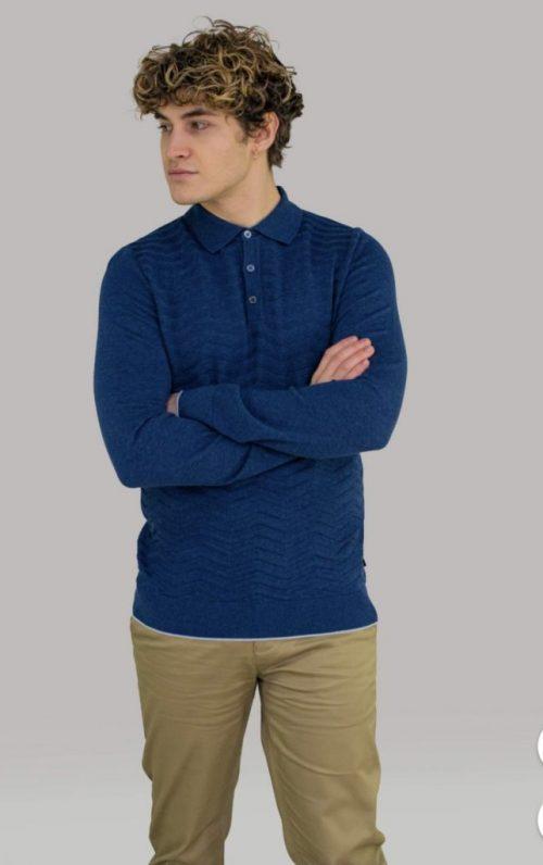 Cavani Otis Indigo Polo Shirt