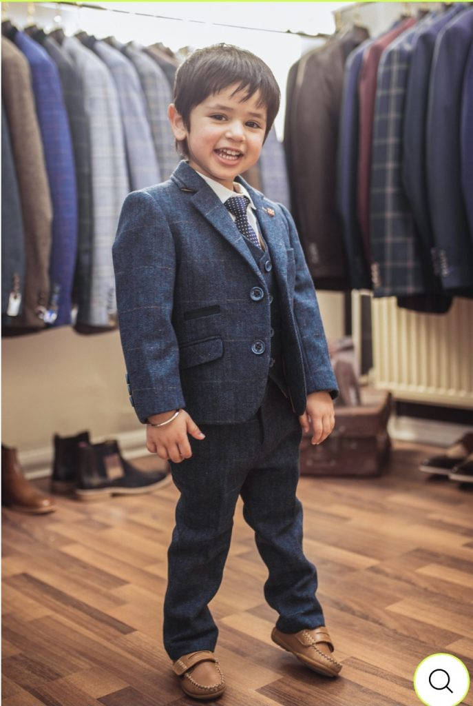 Cavani Carnegi Blue Tweed Boys Suit