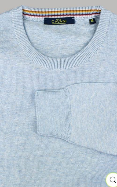 Cavani Blue Crewneck Knit