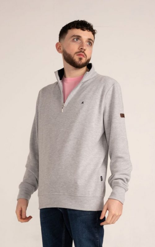 Mineral Kentucky Grey Half Zip Sweater