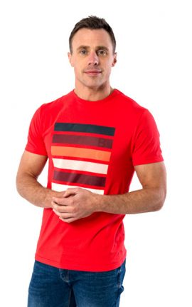 XV Kings Carluke Sunset Orange T-Shirt