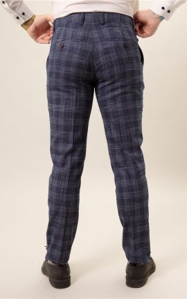 Fratelli Uniti Navy Textured Trousers