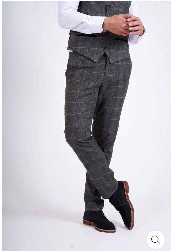 Marc Darcy Scott Grey Check Trousers