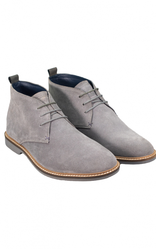Cavani Sahara Light Grey Suede Boots