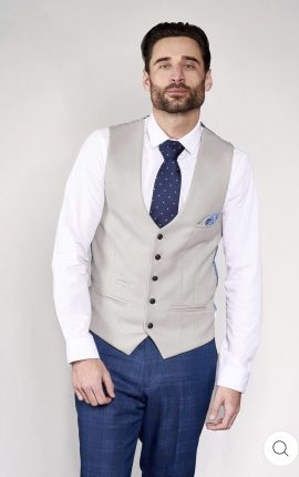 Marc Darcy Kelvin Stone Single Breasted Waistcoat