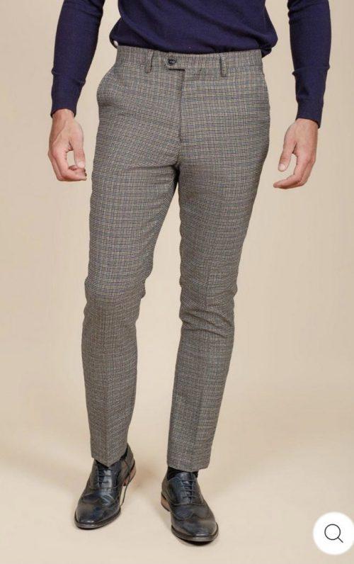 Marc Darcy Hardwick Tan Tweed Trousers