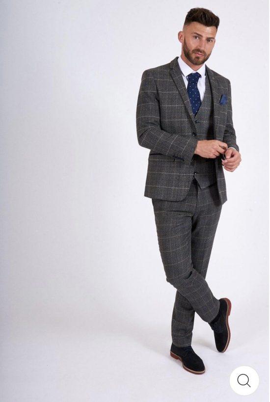 Marc Darcy Scott Grey Check Suit