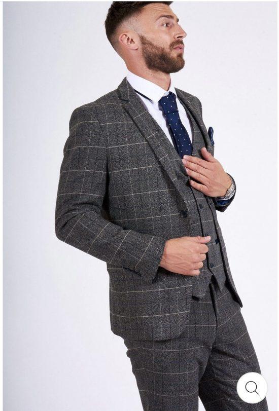 Marc Darcy Scott Grey Check Blazer