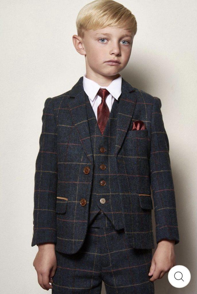 Marc Darcy Kids 3 Piece Suit Eton