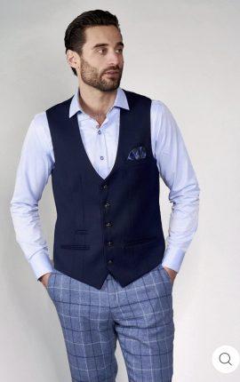 Marc Darcy Kelly Blue Single Breasted Waistcoat