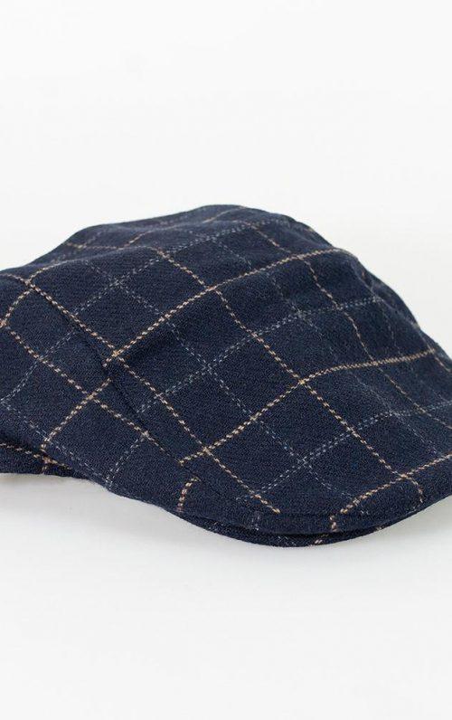 Cavani Shelby Navy Tweed Flat Cap