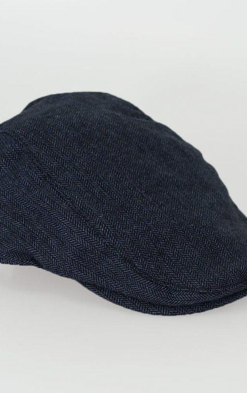 Cavani Martez Navy Tweed Flat Cap
