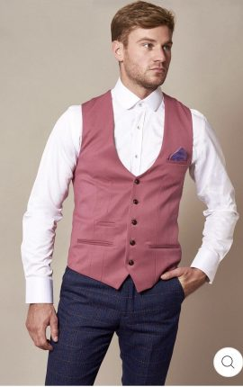 Marc Darcy Kelly Pink Single Breasted Waistcoat