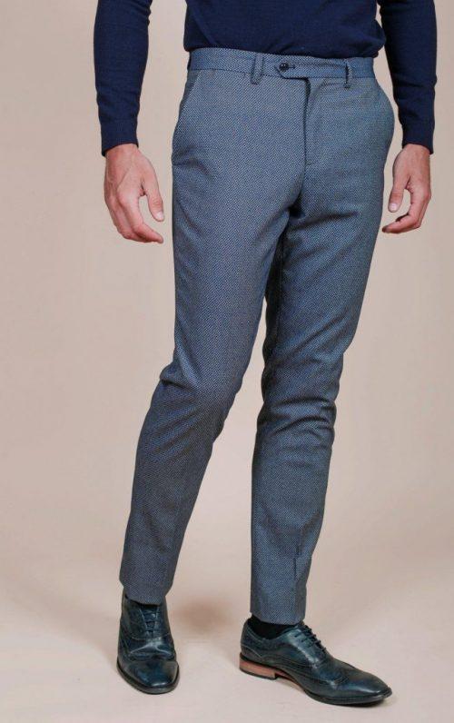 Marc Darcy Wilson Navy Birdseye Trousers