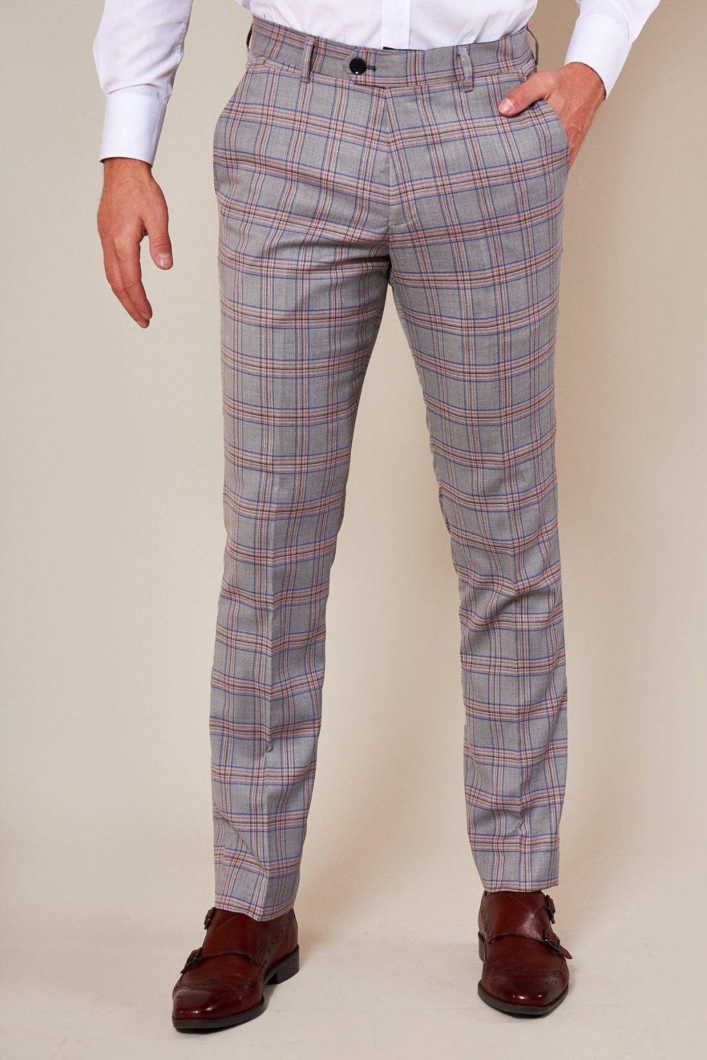 Marc Darcy Alvin Grey Check 3 Piece Suit